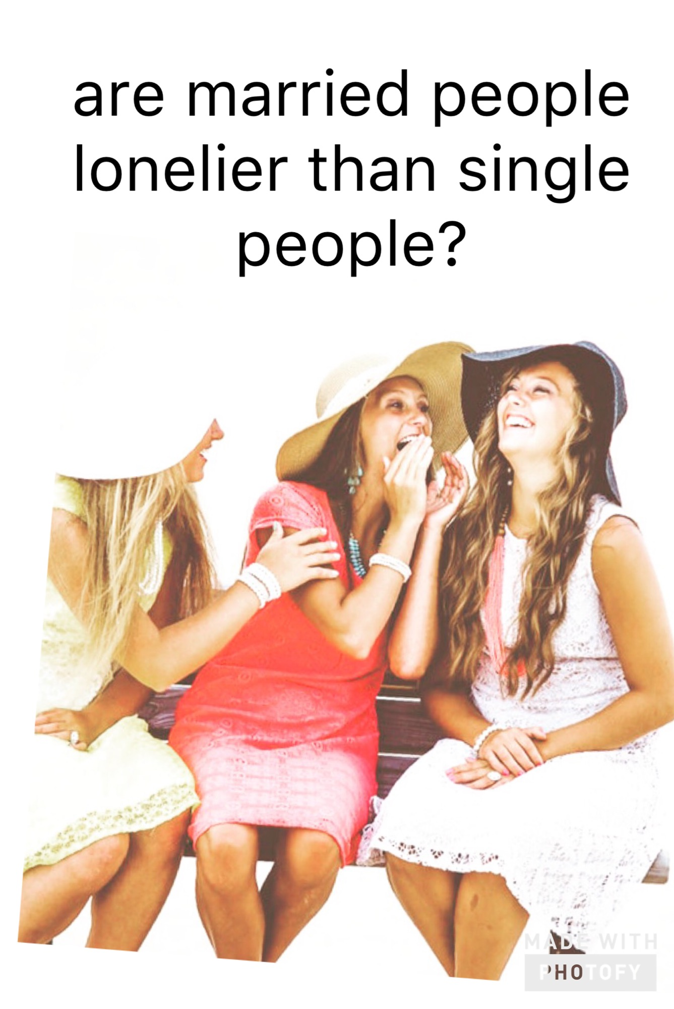 Are married people lonelier than single people