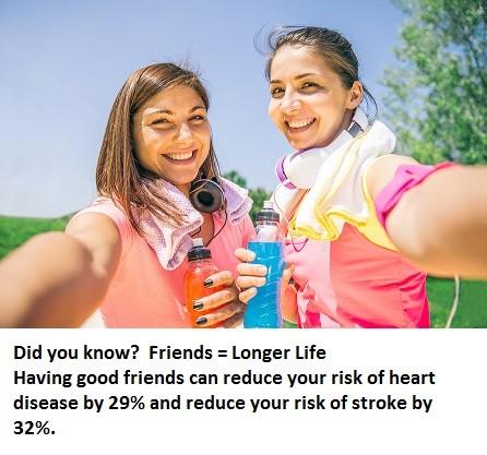 Friends: The Prescription for a Long, Healthy Life