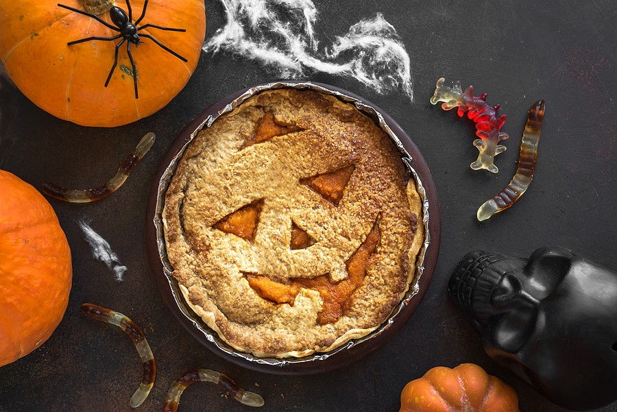 bigstock-Halloween-Pumpkin-Pie-313734781